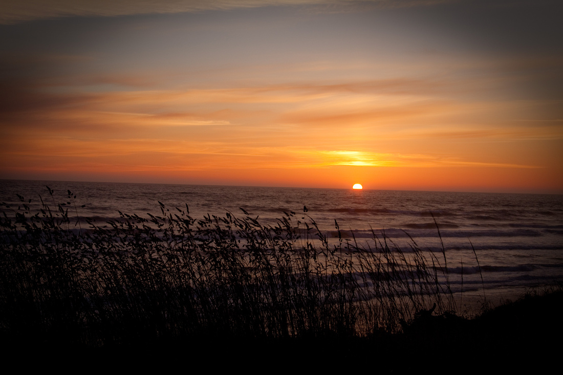 Sunset on the Pacific Ocean